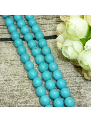 Perles ronde howlite turquoise  8 mm
